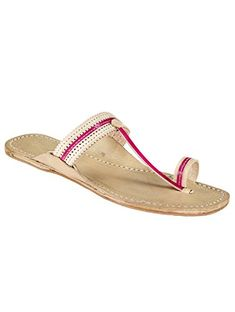 91b1a5dd295fed eKolhapuri Womens Leather Flip Flop Kolhapuri Sandals 10 US Pink     Check  out the