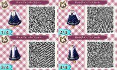 ドットジャンパースカート Dotted jumper dress QR code (requested by Amaya Gee)