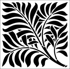 Leaf stencils from The Stencil Library. Stencil catalogue quick view page Wall Stencil Patterns, Stencil Templates, Stencil Designs, Leaf Stencil, Stencil Art, Tile Stencils, Wall Stenciling, Stencils Online, Library Art