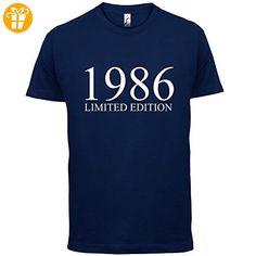 1986 Limierte Auflage / Limited Edition - 31. Geburtstag - Herren T-Shirt - Navy - XXL (*Partner-Link)