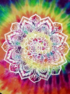 Bohemian Hippie Tie Dye Mandala Art Design Love Summer