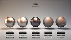 [image] Title: Material Studies: Metals Name: Jarrod Hasenjager Country: South Africa Software: Houdini Arnold Submitted: April 2016 Hello all, this is my first entry into what will be a series of studies on di… Blender 3d, Digital Painting Tutorials, Digital Art Tutorial, Art Tutorials, 3d Texture, Metal Texture, Zbrush, 3d Max Tutorial, 3d Max Vray