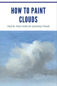 Complete step by step guide of how to paint clouds. Cloud painting tutorial with pictures of each and every step! Step by step painting demonstration. Oil painting for beginners. How to oil paint. Oil Painting For Beginners, Acrylic Painting Techniques, Oil Painting Abstract, Art Techniques, Painting & Drawing, Painting Clouds, How To Paint Clouds, Watercolor Clouds, Oil Painting Lessons