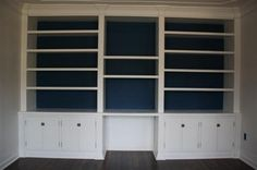 Office/dining room cabinets and shelves