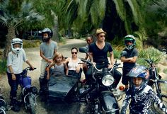 The Gang's All Here - The Jolie-Pitt brood (from left): Shiloh, Maddox, Vivienne, Angelina, Zahara, Brad, Pax, and Knox. The family travels as a troupe to Asia, Africa, and Europe for film projects and cultural trips. Angelina wears a Lanvin tank top and skirt.
