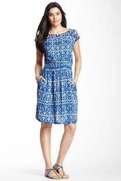 Indie Cap Sleeve Embroidered Yolk Dress on HauteLook