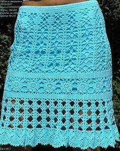 Beautiful Crochet Skirt: charts/diagrams by Banphrionsa Tops A Crochet, Crochet Skirt Pattern, Mode Crochet, Crochet Skirts, Crochet Diagram, Crochet Clothes, Crochet Lace, Crochet Patterns, Knitting Patterns Free