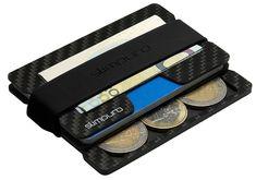 Carbon Kreditkartenetui mit Münzfach - Slim Wallet mit Coin Fach - Mini Portmonee Herren - RFID Schutz - Minimalisten Geldbeutel mit MultiTool-Card - Geldbeutel, Geldbörse - Typ C4 EUR 26,90 Money Clip, Wallet, Mini, Sachets, Totes, Pocket Wallet, Purses, Money Clips, Diy Wallet