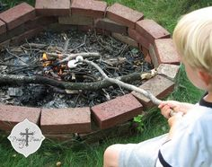 Building this out of the brick that we removed in flower beds.... Simple Brick Fire Pit via Prodigal Pieces                                                                                                                                                                                 More