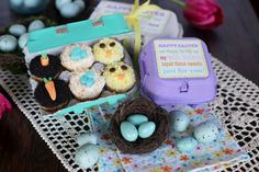 Mini cupcakes fit perfectly in egg carton!  Our Best Bites: Printable Label for Egg Carton Cupcakes