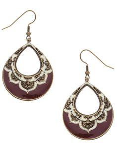 Moroccan Hoop Earrings | Red | Accessorize
