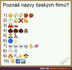 Poznáš názvy českých filmů? Caricature, Motto, Emoji, Haha, Jokes, Humor, Film, Funny, English