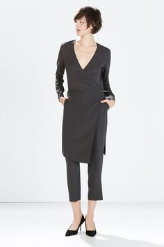 6acf9e4c98bcb Mono Zara, Zara Jumpers, Dress Over Pants, Zara New, 2015 Fashion Trends