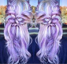 Platinum and lavender color melt Vivid hair Pastel purple By @rubyna.kim