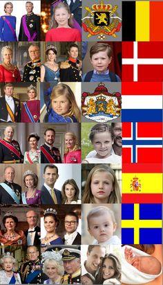 European Monarchs and their Heirs