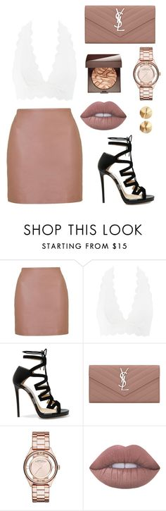 """""""Nude Perfection"""" by itsamandarose on Polyvore featuring Topshop, Charlotte Russe, Jimmy Choo, Yves Saint Laurent, Marc by Marc Jacobs, Lime Crime and Eddie Borgo"""