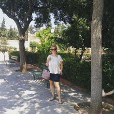 Think I found the only shaded spot in the whole of the city! #phew #hot #summer #sunshine #melting #Valetta #vacation #microblogging #malta #lovemalta #cathkidstonbag @cathkidston #cotton #botanicalgardens #ig #igtravel #travelmum #life #holidaywithfamily #holiday #intheshade