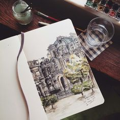 Paris urban sketch .sketch.watercolor 05.2015