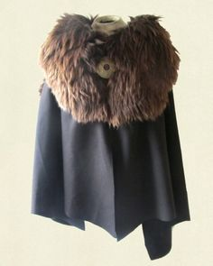 CL fur mantle cloak