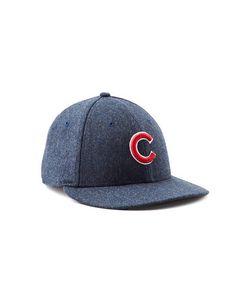 a27a8ff583b Todd Snyder + New Era Chicago Cubs Navy Herringbone Hat Herringbone
