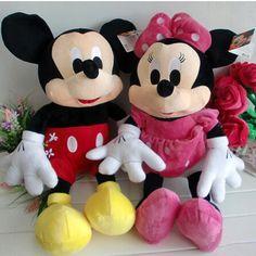 "1pcs 20""50cm Mickey Minnie Mouse doll kit plush toy doll creative wedding birthday gift free shipping"