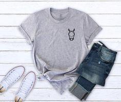 bce48519722 Horse shirt pocket shirt animal shirt funny shirt pocket shirt women tshirt  men tee shirt ladies tsh. Funny Shirts WomenMens ...