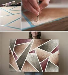 DIY canvas art. | DIY awesomeness