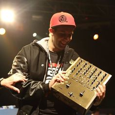 Vekked - 2015 World DMC Champion rocking the red snapback and his gold Rane TTM 57 mixer  #CrateConnect #DjClothing #turntableclothing #djing #Djs #dj #turntablism #dmc #djculture #djlifestyle #dmcdjs #djbattle #WorldDMCChampion by crateconnect http://ift.tt/1HNGVsC