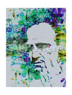 Godfather Watercolor People Art Print - 30 x 41 cm