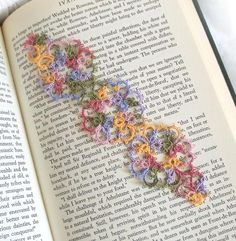 Janessa tatted bookmark  This  uses the thread I like so much...