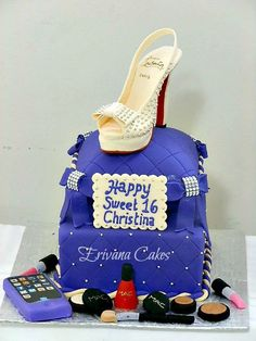 Louboutin shoe on pillow cake. I wish this was going to be the cake I get at the end of December for my 16th birthday.