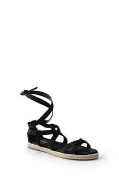 Women's+Espadrille+Gladiator+Sandals+from+Lands'+End