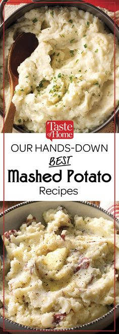 Our Hands-Down Best Mashed Potato Recipes Buttery Mashed Potatoes Recipe, Mashed Potato Balls Recipe, Mashed Potato Cakes, Perfect Mashed Potatoes, Homemade Mashed Potatoes, Mashed Potato Recipes, Potato Side Dishes, Side Dishes Easy, Side Dish Recipes