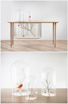 Table à oiseaux