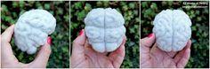 Needle felted wool brain! #Halloween