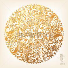 Цветочный Орнамент В Круге, Векторные Иллюстрации клипарты - ClipartLogo.com