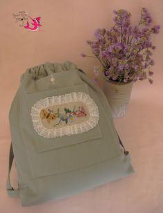 Handmade backpack/ Romantic bags/ Folk embroidery