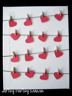 Who's ready for some wildly CREATIVE PAINT CHIP CRAFTS? How about 41 wildly creative paint chip crafts? I worked really hard on this roundup and feel confident that I am bringing you the … Valentines Day Decorations, Valentine Day Crafts, Be My Valentine, Holiday Crafts, Valentine Wreath, Heart Decorations, Holiday Decor, Decoration St Valentin, Valentines Day Bulletin Board