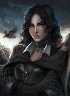 Yennefer by ragecndy on DeviantArt Fantasy Warrior, Fantasy Rpg, Fantasy Girl, Fantasy Artwork, The Witcher, Witcher Art, Dnd Characters, Fantasy Characters, Female Characters
