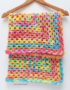 TOOT SWEETS  Crochet Blanket Pattern Rainbow by KerryJayneDesigns