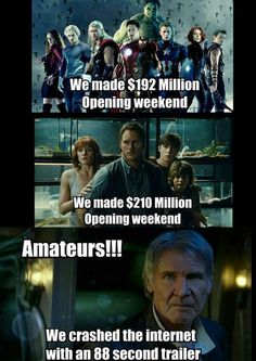 And made 512 million opening weekend........