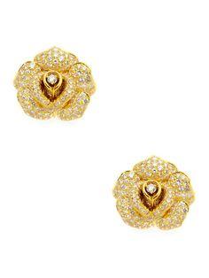 Gold & Diamond Rose Earrings by Piranesi on Gilt.com  I DIE for these earrings!