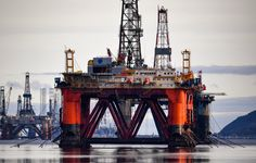 Oil rigs weighing thousands of tons are continuing to be stacked up in the Cromarty Firth on January 2018 in Invergordon, Scotland. Rig platforms are being stacked up in the Cromarty Firth,. Get premium, high resolution news photos at Getty Images Water Well Drilling, Drilling Rig, Oil Rig Jobs, Oilfield Life, Oil Platform, Oil Refinery, Oil Industry, Cyber Attack, Video Site