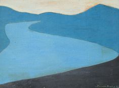 Blue Lake Oil on Panel by artist March Avery at Marin-Price Galleries