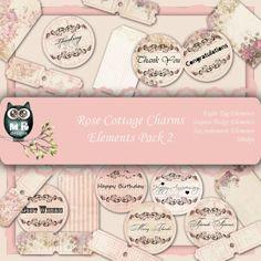 Rose Cottage Charm Elements Pack 2 €2.50