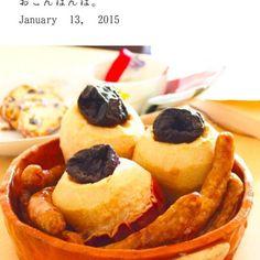 酸っぱい紅玉にプラムを詰め、ソーセージとオーブン焼きに(^^) - 47件のもぐもぐ - ソーセージと林檎のオーブン焼き by yasuko murakami