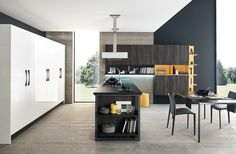 Eurocasa is a brand name that represents the design, elegance and perfection of imported Italian-made kitchens, wardrobes and furniture. Grey Kitchens, Fitted Kitchens, Gray Island, Charcoal, Ceiling Lights, Grey Cabinets, Dove Grey, Furniture, 3