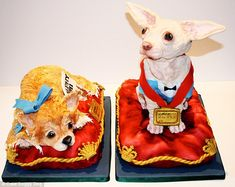 Cakes that look like dogs....