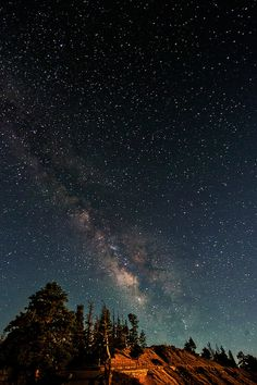 Taken at night at Bryce Canyon National Park in Utah. The sickest night sky Ive even seen!