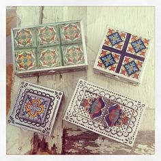 Talavera boxes! Punched tin designs or mirrored inside!